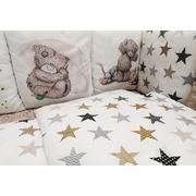 Бортик в детскую кроватку АиСт Мишки НЕ-3 (бежевый)