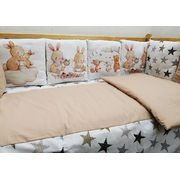 Бортик в детскую кроватку АиСт Зайчата НЕ-2 (бежевый)