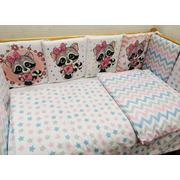 Комплект в кроватку ЕНОТИКИ девочки-2 17 предметов (розовый)