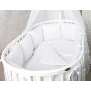 Комплект в кроватку Белоснежка 17 предметов (белый)