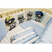Комплект в кроватку Мальчики ЕНОТЫ-1 17 предметов (голубой)