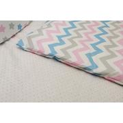 Комплект в кроватку Мозаика-19 17 предметов (розовый)