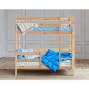 Кроватка домик двухъярусная Для двоих без крыши (без покраски)
