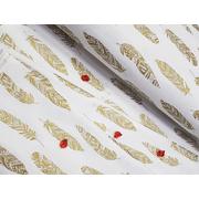 Комплект постельного белья Перья с глиттером (золотой)