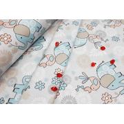 Комплект постельного белья Слоники (голубой)